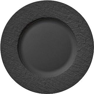 Villeroy & Boch Manufacture Rock Dinner Plate, 10.5 in, Premium Porcelain, Gray