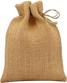 Cotton Craft - 24 Pack - Jute Burlap Gift Bags - Natural - 4x6 - Versatile - Sturdy - Rustic - Durable
