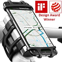 Bike Motorcycle Phone Mount, ANCwear 5-in-1 Portable Charger and Phone Holder, Adjustable Silicon Universal Fit Handlebars and Smart Phones Like iPhone Xs Max R X 8 Plus 7 Samsung