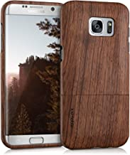 kwmobile Samsung Galaxy S7 Edge Wood Case - Non Slip Natural Solid Hard Wooden Protective Cover for Samsung Galaxy S7 Edge