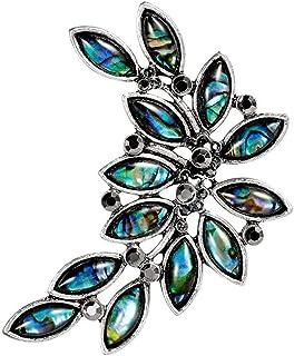 FOPUYTQABG broche de aleación broche de los hombres femeninos moda shell material flor moda exquisita decoración retro acc...