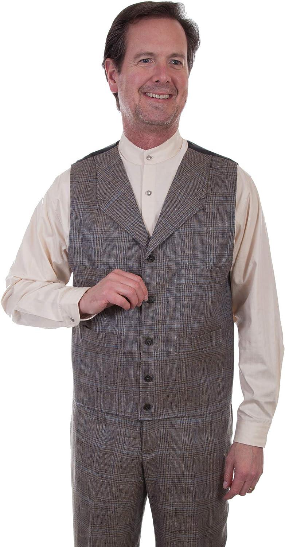 Scully Men's Plaid Vest - 541694-Mul