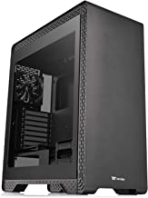 Thermaltake S500 Tempered Glass ATX Mid-Tower Computer Case with 140mm Front Fan + 120mm Rear Fan Pre-Installed CA-1O3-00M1WN-01