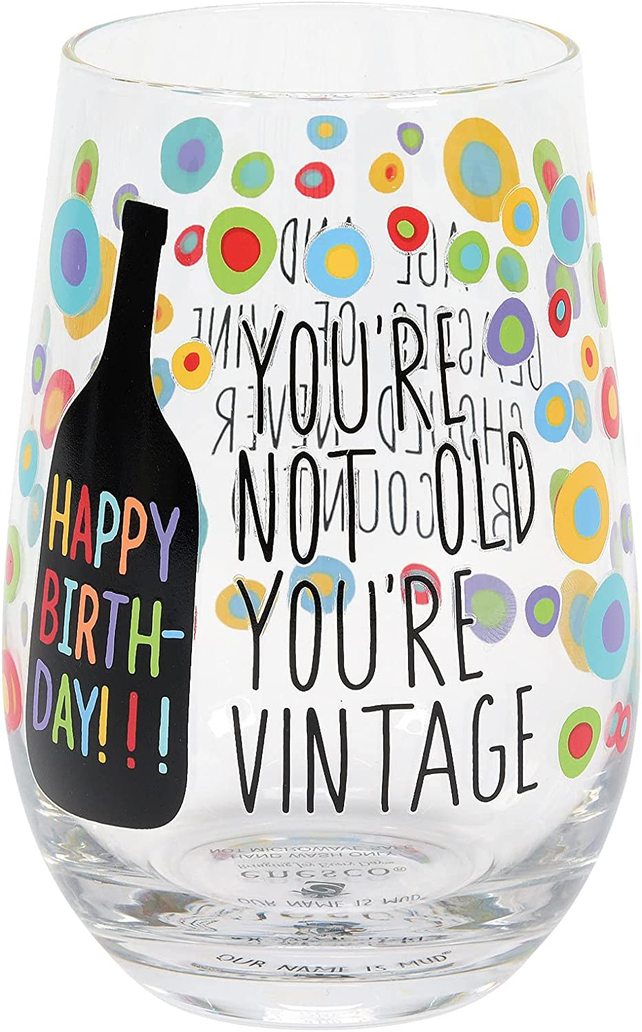 Mail order Enesco Our Name is Mud Happy Stemless Not Vintage Old Birthday W Indefinitely