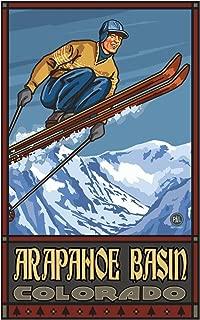 Arapahoe Basin Colorado Ski Jumper Travel Art Print Poster by Paul A. Lanquist (12