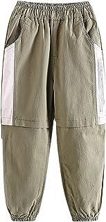 ZRFNFMA Pantalones para niños, Ropa para niños, Pantalones Casuales de Estilo, Pantalones Deportivos de Primavera Grandes,...