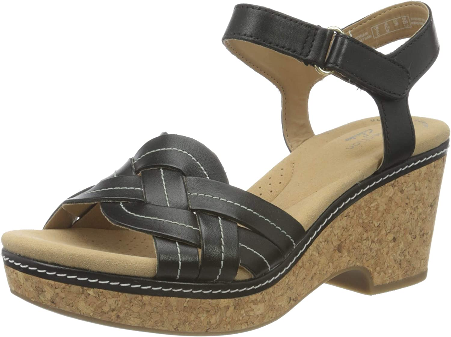 Clarks Women's Ankle-Strap Sandal Max 86% OFF Heeled Be super welcome