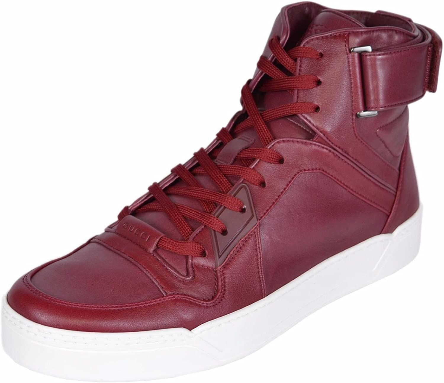 Gucci High Top Strong Dark Red Leather