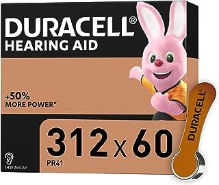 Duracell Pilas para audífonos, tamaño 312, paquete de 60, Amazon exclusive