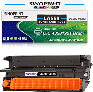 SINOPRINT Compatible Drum Unit Replacement for Okidata B4600 43501901 Drum Okidata B4400 B4400n B4500 B4500n B4550 B4550n B4600 B4600n - 25,000 Pages