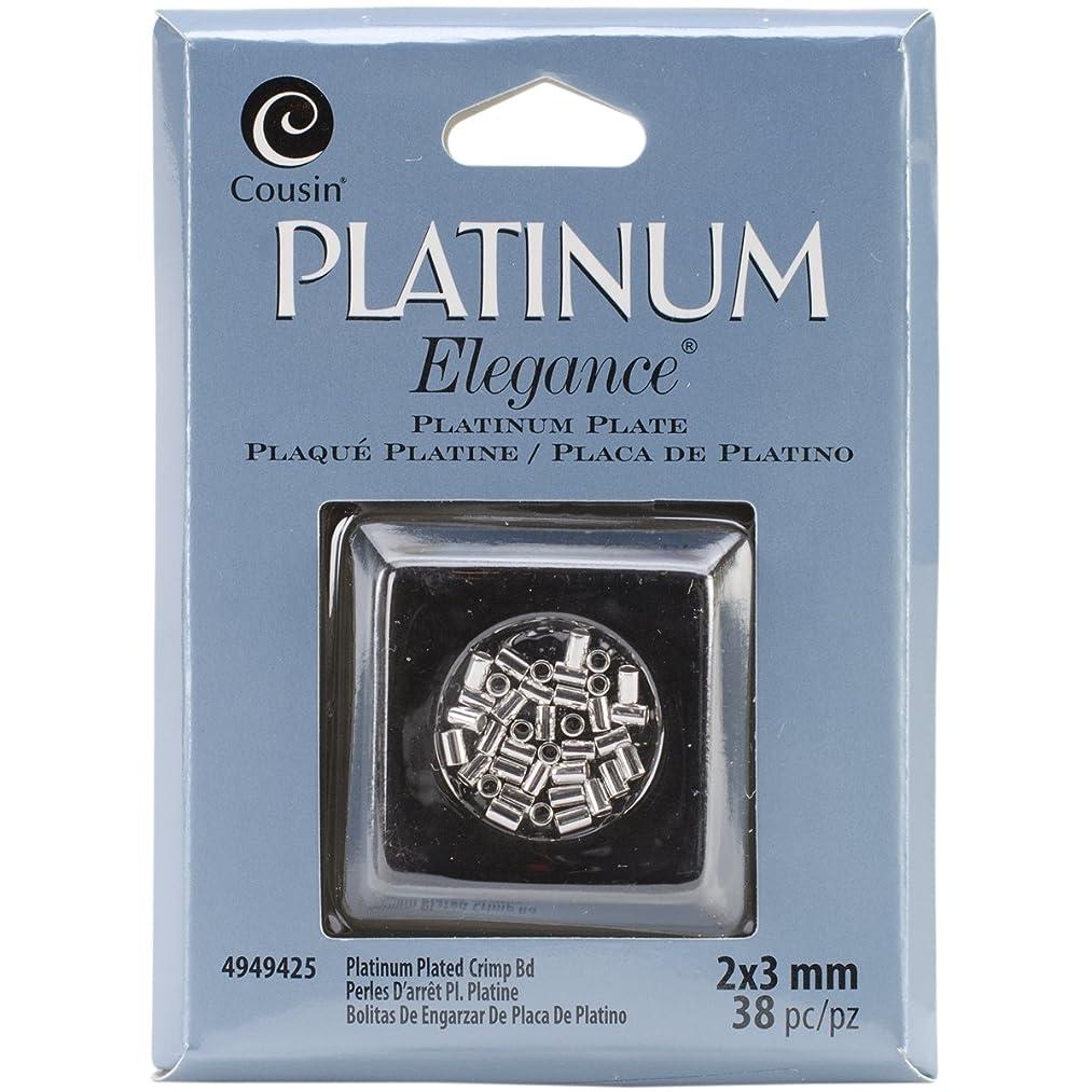 Cousin Jewelry Basics 2 by 3mm Platinum Plate Crimp Bead, 38-Piece