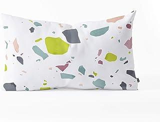 """Deny Designs Mareike Boehmer Terrazzo 1 Oblong Throw Pillow, 23"""" x 14"""", White"""