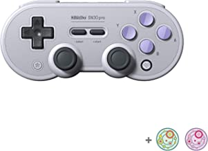 8Bitdo SN30 Pro Wireless Bluetooth Controller for Switch, Windows, Mac OS, Android, Steam with Thumb Stick Grips Cap (SN E...
