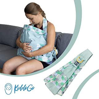 Nursing Cover for Breastfeeding up to 35 lbs | Baby Canopy | Nursing Sling for Breastfeeding | Baby Wrap Carrier Newborn | Baby Sling Wrap | Infant Carrier Sling | Teal Baby Blanket Birth - 18 Months