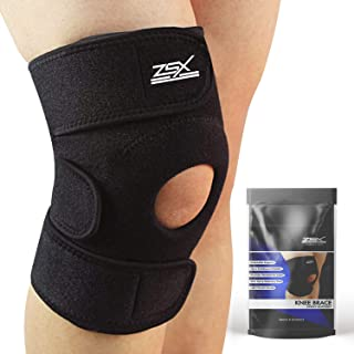ZSX Compression Knee Brace Support Protector Adjustable, Pain Relief, Injury Recovery with Arthritis, Meniscus Tear, ACL, MCL Premium Patella Stabilizers Non Slip Comfort Breathable Neoprene