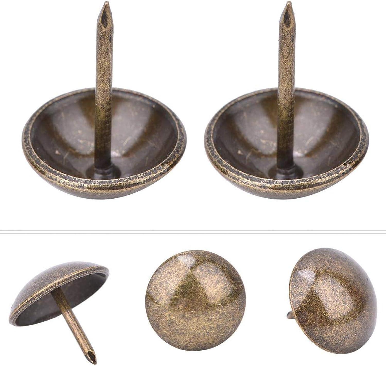 16 * 20mm molduras decorativas de cabeza de clavo para muebles 50 piezas de tachuelas de tapicer/ía engrosadas alfileres para clavos de muebles