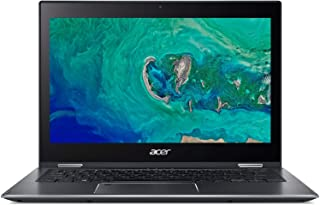 "Acer Spin 5 SP513-53N-55ER Convertible Laptop, Intel Core i5-8265U, 13.3"" Multi-touch FHD, 512GB SSD, 8GB RAM, Intel UHD, Win10, Eng-Ara KB, Black"