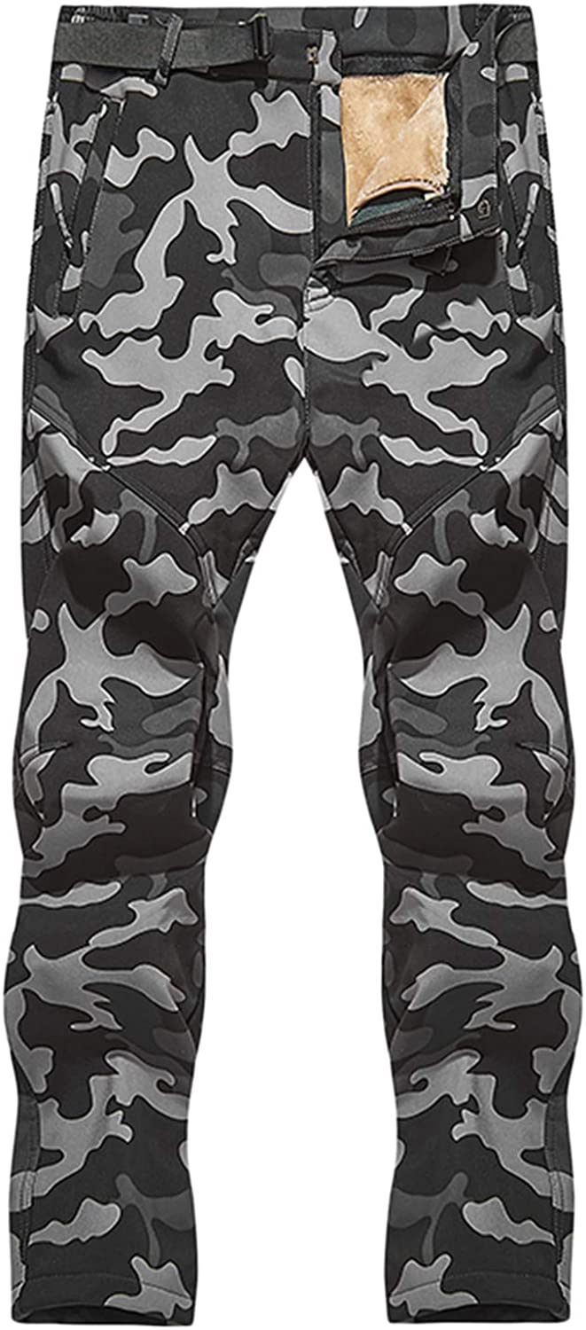 IKDXUF Men's Ski Factory outlet Pant Water with Camouflage Resistant Store Zippe