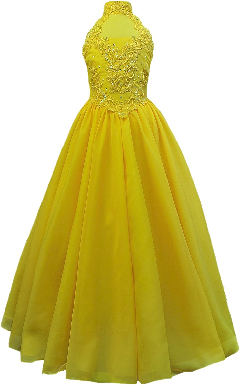 Unotux Girls Pageant Long Ball Gown Dress