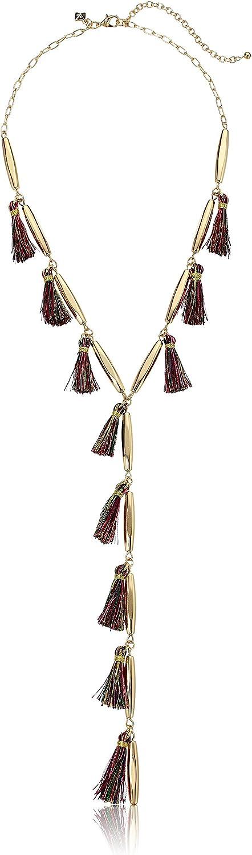 Rebecca Minkoff Multi Tassel Y-Shaped Necklace