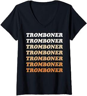 Femme Sex Education Tromboner Stack T-Shirt avec Col en V