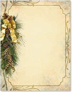 Christmas Holiday Stationery, Pine Perfection, 8.5 x 11, 50 Count