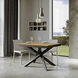 Itamoby, Table extensible Volantis Evolution 160->420 cm, panneaux de mélaminé, chêne naturel et anthracite L.160 x P.90 x...