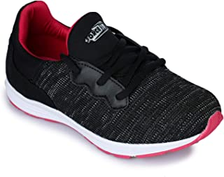 Liberty Force 10 Black Ladies Non-Leather Sports Shoes