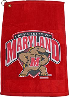 McArthur NCAA Maryland Terrapins Sport Towel with Metal Grommet and Hook, 15x25 inches