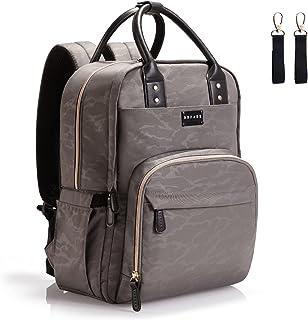 Diaper Bag Backpack with Stroller Straps, BBPARK - Multifunction Diaper Bags for Baby Boy Girl Waterproof Large Diaper Ba...