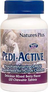 NaturesPlus Pedi-Active LECI-PS, DMAE Complex - 120 Chewable Tablets - Mixed Berry Flavor - Childrens Chewable Supplement,...