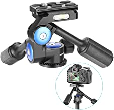 Neewer Camera Video Tripod Head Handle Ball Head 360 Degree Rotation, with 1/4 inch Quick Shoe Plate for Tripod, Monopod, Camera Slider, Light Stand and DSLR Cameras, Load Up to 22 pounds (3-Way)