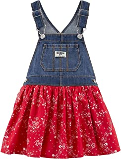 OshKosh B'Gosh Baby Girl Bandana Denim Jumper Size 6 Months