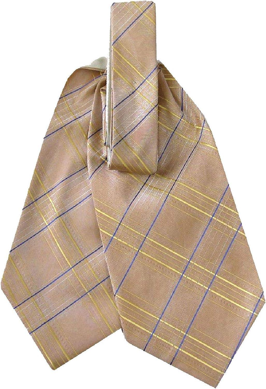 Mens Woven Silk Ascot