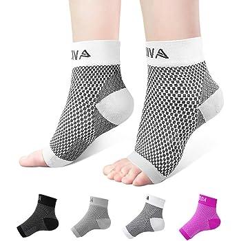 M Black Pair AVIDDA Plantar Fasciitis Socks with Heels Arch Supports