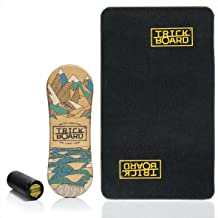 Trickboard Balance Board SET - Minder Talk + Roller + Tapijt - Balance training