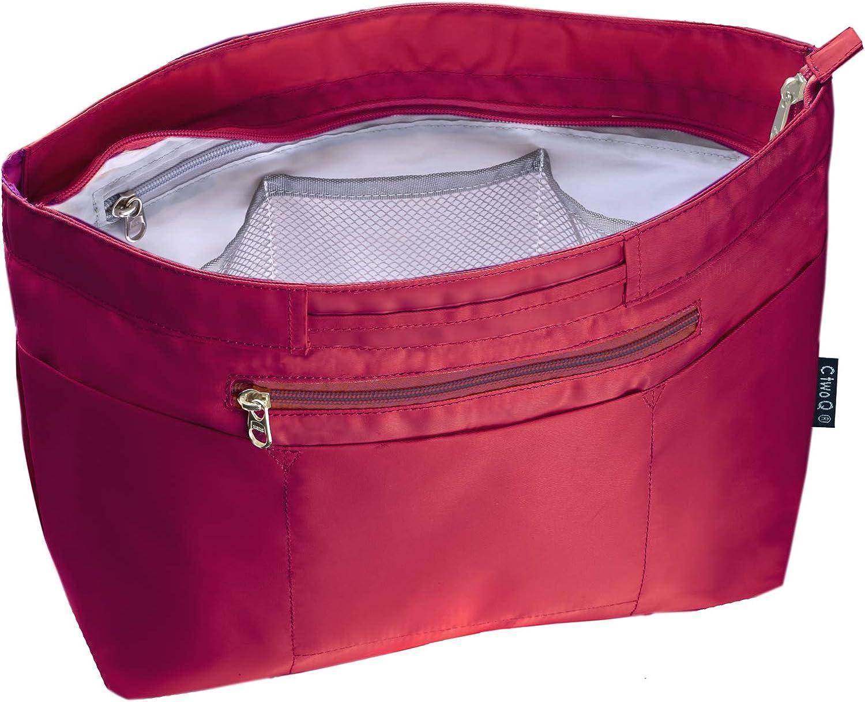C two Q バッグインバッグ インナーバッグ 軽量 自立 大容量 収納 バッグ ワインレッド