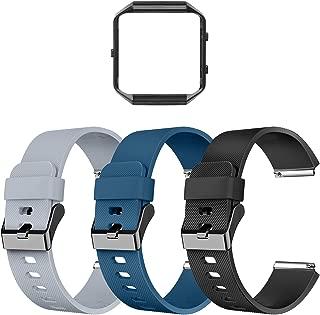 LEEFOX Compatible Fit bit Blaze Bands Frame, Special Edition Replacement Strap for Fit bit Blaze Smart Fitness Watch Sport Accessory Wristbands Small Large Men Women Boys Girls