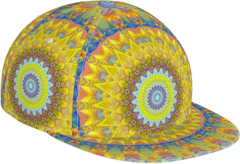 Fantasy Hippie Mandalas Bloom Max 70% OFF Mandala Casual Ha Sun Baseball Cap Miami Mall