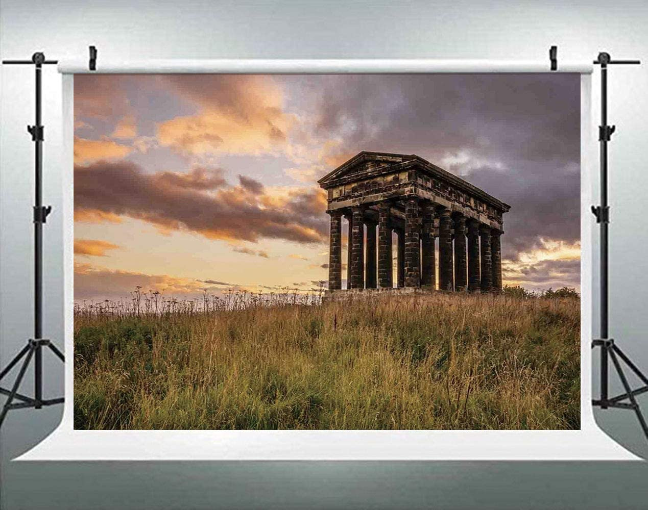 Sky and Lake with Antique Surround by Trees Traditional Backdrop for Photography Photo Background Props Photography AM017735 ALUONI 5x3ft Home Decor