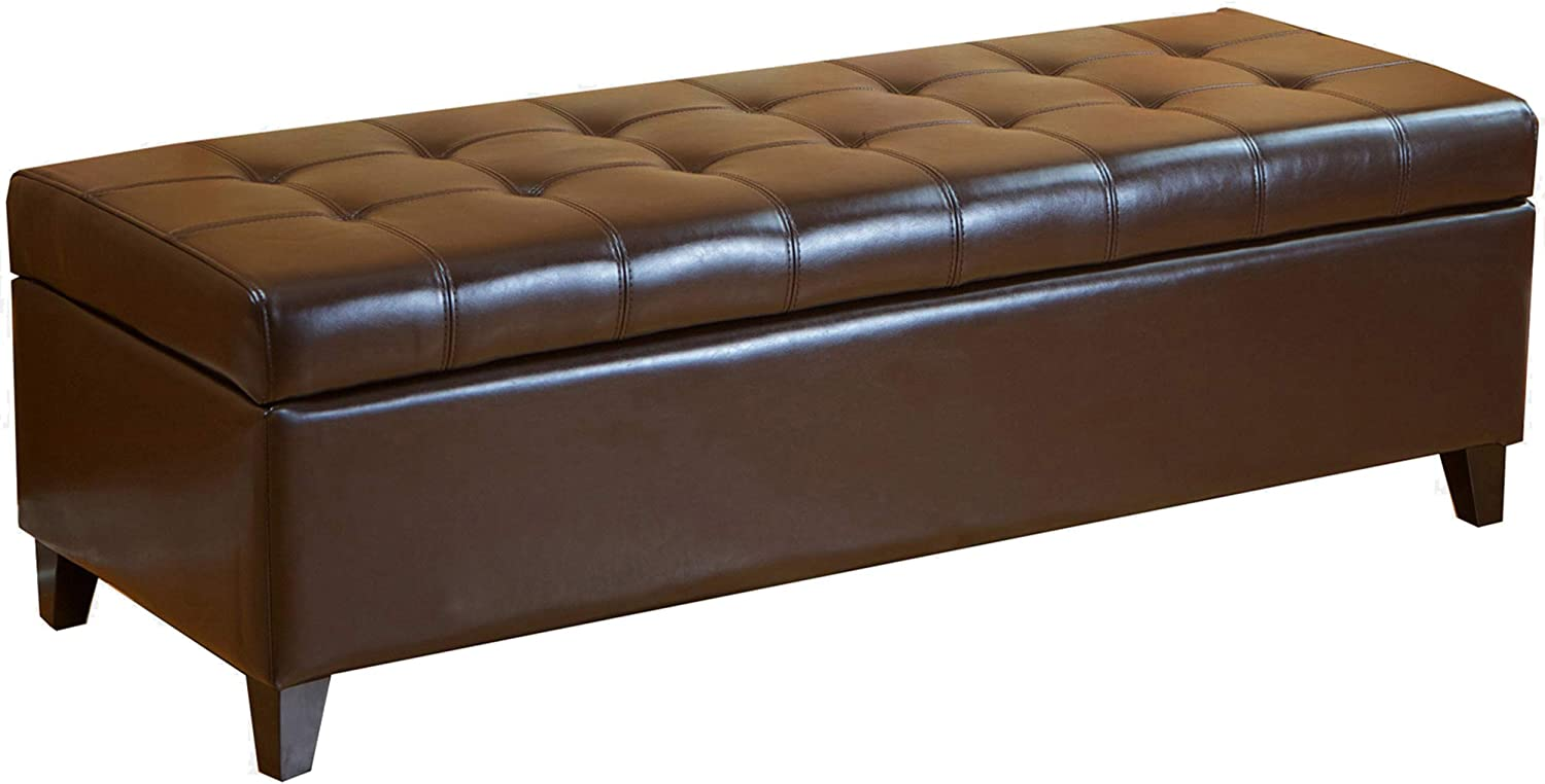 Christopher Safety and trust Knight Home CKH Tufted Ottoman Storag unisex Bonded Leather