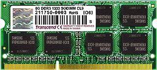 Transcend 8 GB DDR3 1333GHz SO-DIMM (8 GB X 1 Module) Laptop Memory 204-Pin (TS1GSK64V3H)
