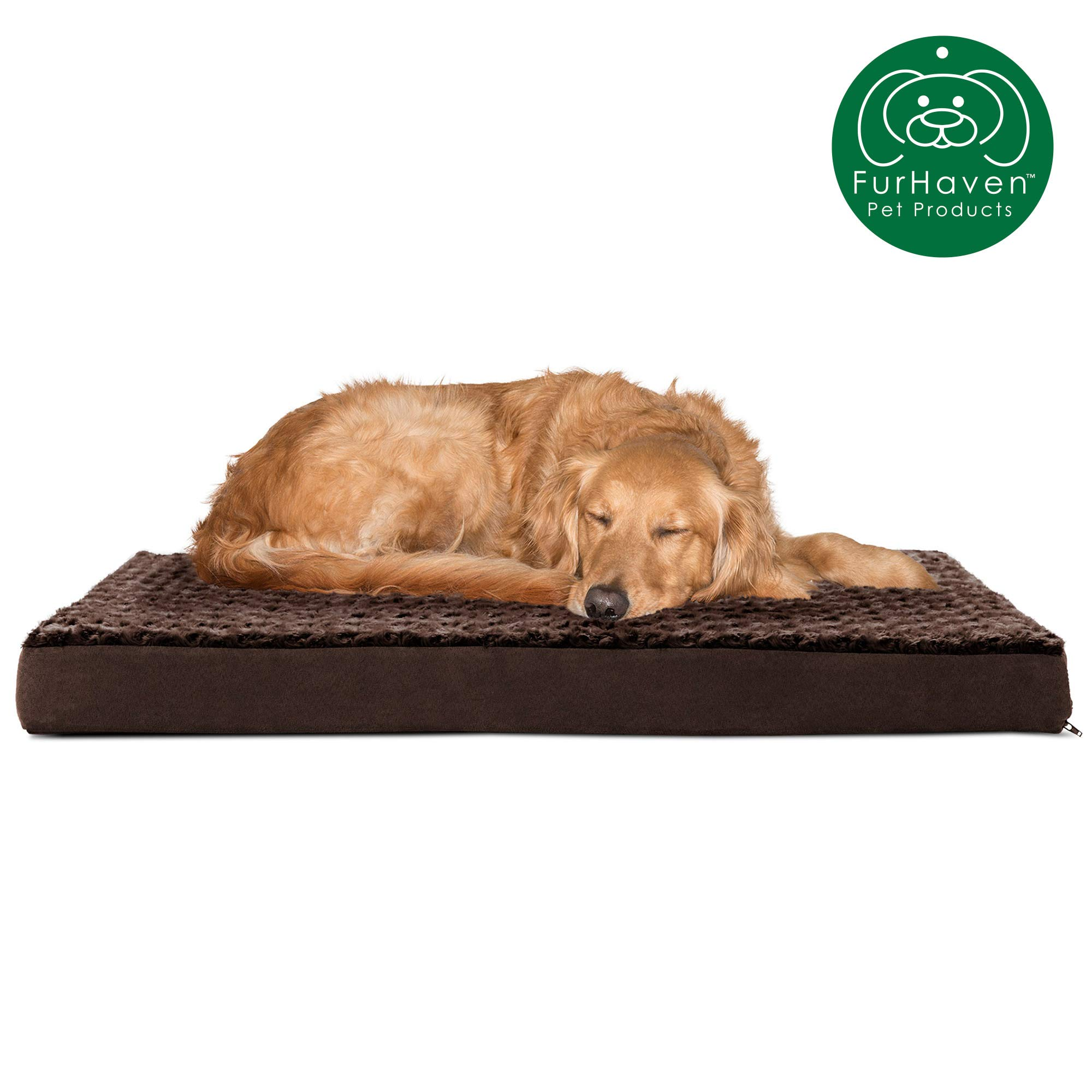 FurHaven Pet Orthopedic Mattress Chocolate