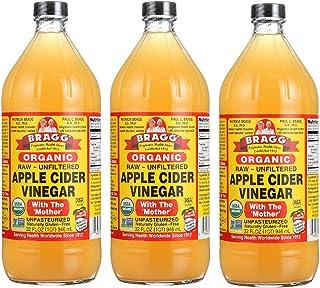 Bragg – orgánico Apple sidra vinagre Gallon, pack de 3