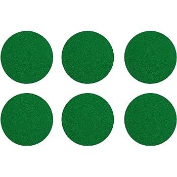 Kasteco 6 Pack Self Adhesive Air Hockey Mallet Felt Pads, Green, 94mm