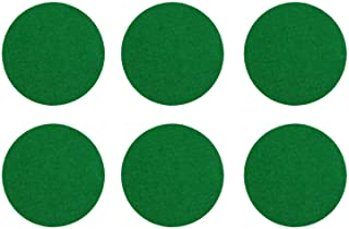 Kasteco 6 Pack Self Adhesive Air Hockey Mallet Felt Pads Green 94mm