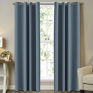 Insulated Thermal Blackout Curtaisn Room Darkening Curtains for Bedroom/Living Room Grommet/Eyelet Top Nursery & Infant Ca...
