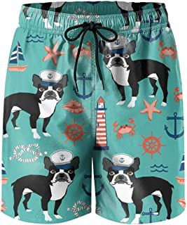Men's Boardshorts Cute Dog Puppy Quick Dry Bathing Suits Mesh Lining Beach Board Shorts