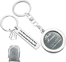 Pet Memorial Jewelry Photo Frame Keychain Set You Were My Favorite Hello and My Hardest Goodbye Keychain Pet Loss Sympathy Gift in Memory of Beloved Dog or Cat (2Pcs)