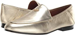 COACH Hallie Metallic Loafer,Gold